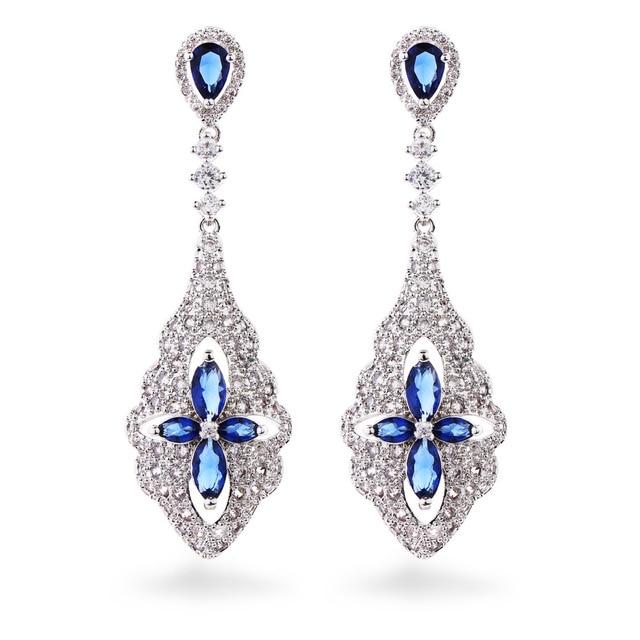 Danki Brand New Jewelry Earrings Women Fashion 925 Sterling Silver Earrings Charming Engagement Wedding Party Bridal Earrings