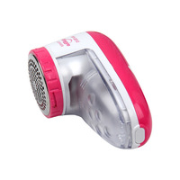 화이트 예비 블레이드 2 배터리 유형 전기 보풀 린트 리무버 빨간색과 흰색 옷 면도기 전기 직물 스웨