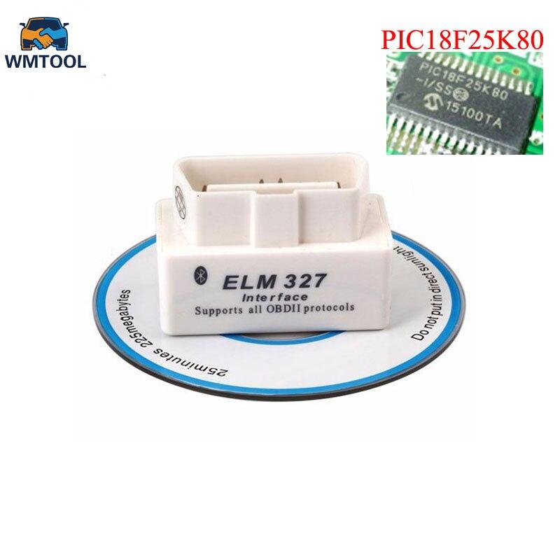 Super Mini Elm327 Bluetooth OBD2 V1.5 Elm 327 V 1.5 OBD 2 Car Diagnostic-Tool Scanner Elm-327 OBDII Adapter