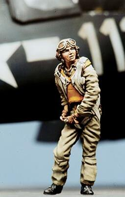 1/35 Resin Kits WWII American Pilot Not Assembled Uncolored