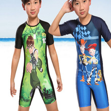 2016 Cartoon Wetsuits Sports Entertainment Sportswear One-Piece Suits For Boys Babys Kids