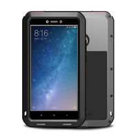Aluminum Metal Case For Xiaomi Max 2 Case Armor Full Phone Body Protective Cover Shockproof Heavy