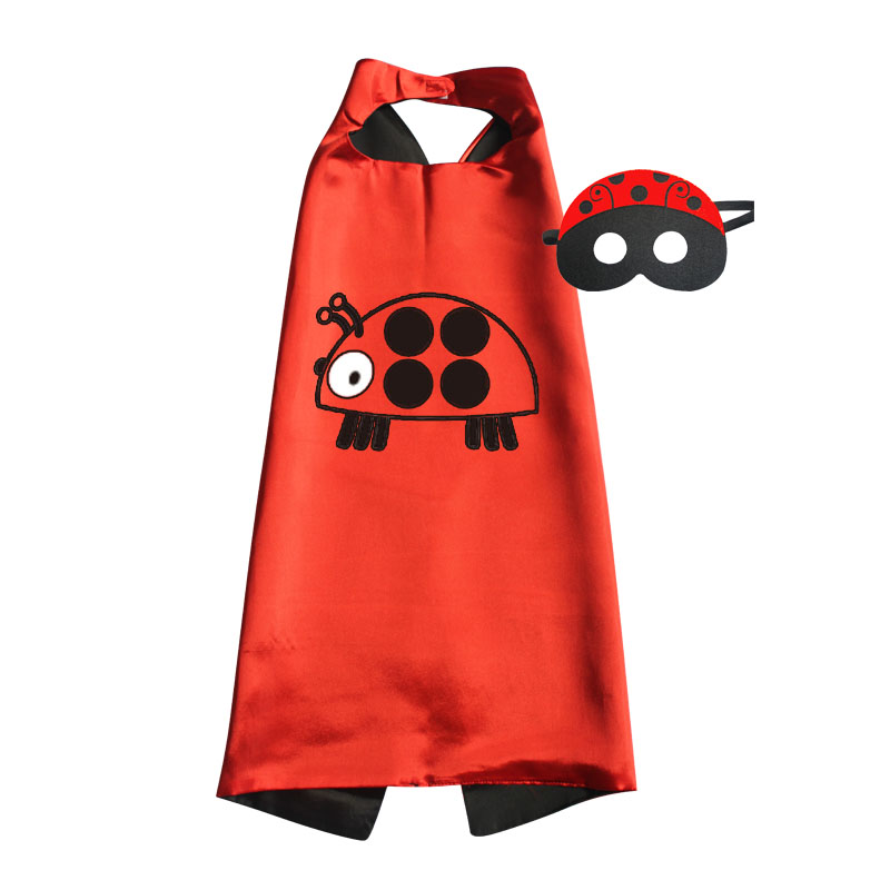 Ladybu Costumes Capes with masks for Kids Birthday Party Favor Christmas Halloween Cosplay