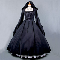 Classic Victorian Dresses Vintage Long Sleeve Dress Retro Gothic Lolita Jsk Princess Black Tutu Party Club