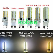 G9 64/72/104/152 3014 SMD LED Light Corn Bulb Silicone Lamp Warm /Cool White(China)