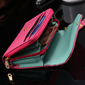 KISSCASEMini Handbag Case for iPhone 4 4s 5 5s 5c 6 6S 7 Plus Smat Phone Wallet Pouch Bag Cover Crown Envelope Case Card Holster