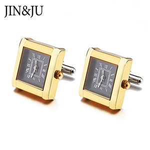Image 5 - High Quality Functional Watch Cufflinks Square Real Clock Cuff links With Battery Digital Watch Cufflink cuffs Relojes gemelos