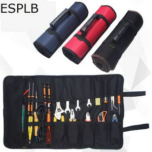 ESPLB Roll Tool Bag Large Wrench Roll Up Portable Pouch Bag 22 Pockets Kit for Electricians Mechanics