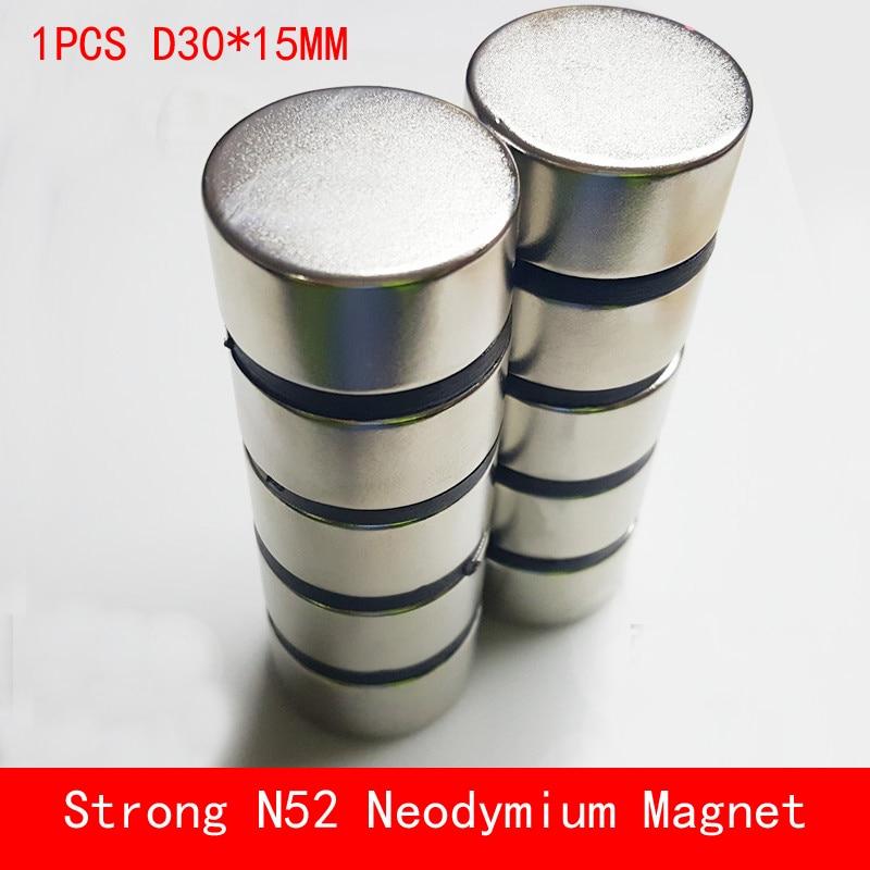 1PCS N45 N52 round magnet D30x15mm Super strong neodymium n52 diameter 30*15mm