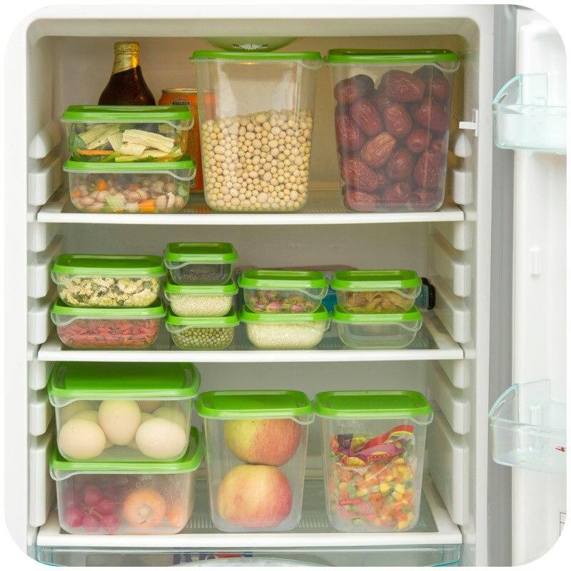 17 Pieces Set Different Sizes Plastic Food Storage Box Crisper