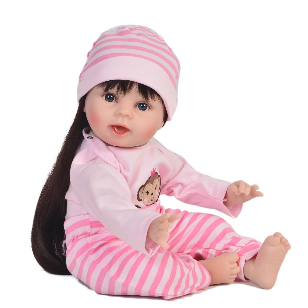 2255cm silicone reborn baby dolls long hair girl bebes reborn princess toddler doll toys for child xmas gift juguetes 2255cm silicone reborn baby dolls long hair girl bebes reborn princess toddler doll toys for child xmas gift juguetes