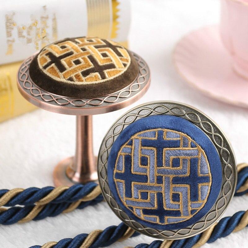 2 pièces Broderie Rideau Crochets Cintre Accessoires De Rideau Embrasse Boucles Gland Tour Brosse Crochets Retenue De Rideau