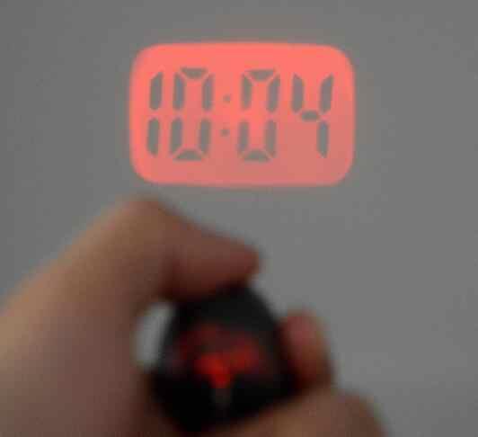 שעון הקרנת מיני אופנה מחזיקי מפתחות מחזיקי מפתחות אור אדום מנורת מתנה הטובה ביותר