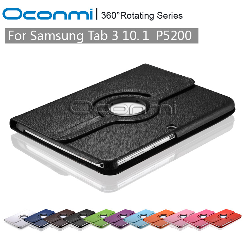 360 Rotating PU Leather case for Samsung Galaxy Tab 3 10.1 inch with stand function SM-P5200 P5210 P5220 Tablet cover sleeves pu leather case cover for samsung galaxy tab 3 10 1 p5200 p5210 p5220 tablet