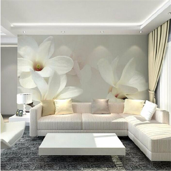 Beibehang Custom Wallpaper Magnolia Flower Background Mural High Quality 3D Living Room Bedroom TV walls 3d wallpaper