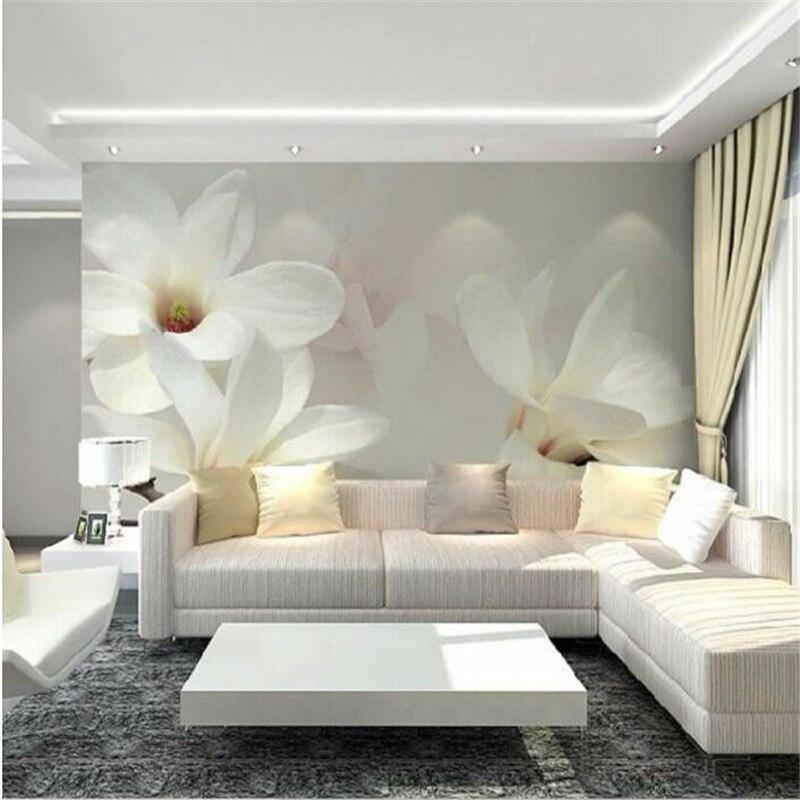 ᑎbeibehang Niestandardowe Tapety Magnolia Kwiat Tle Mural