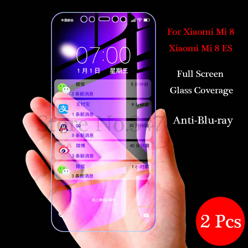 Image 2 - 2Pcs/lot 9H Tempered Glass for Xiaomi Mi 8 9 MI8 lite SE Screen Protector Full Cover Glass For Xiaomi Mi 8 9 9SE Protective Film-in Phone Screen Protectors from Cellphones & Telecommunications