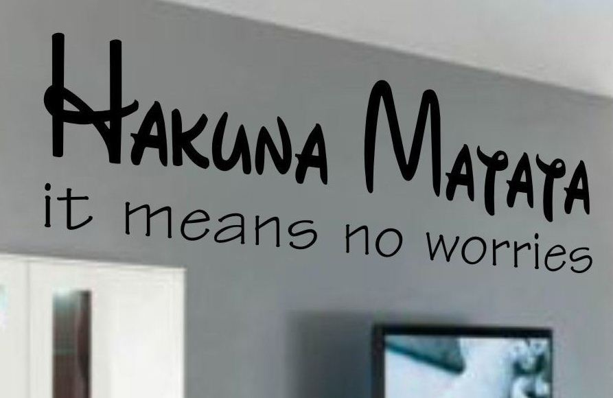 hakuna matata ... english quote wall words sticker, DIY Murals home decor  wall art decoration-in Wall Stickers from Home & Garden on Aliexpress.com  ...