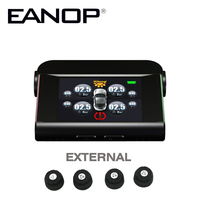EANOP Solar Power Supply Car TPMS With 4 Sensors PSI BAR Tire Pressure Monitor Real Time