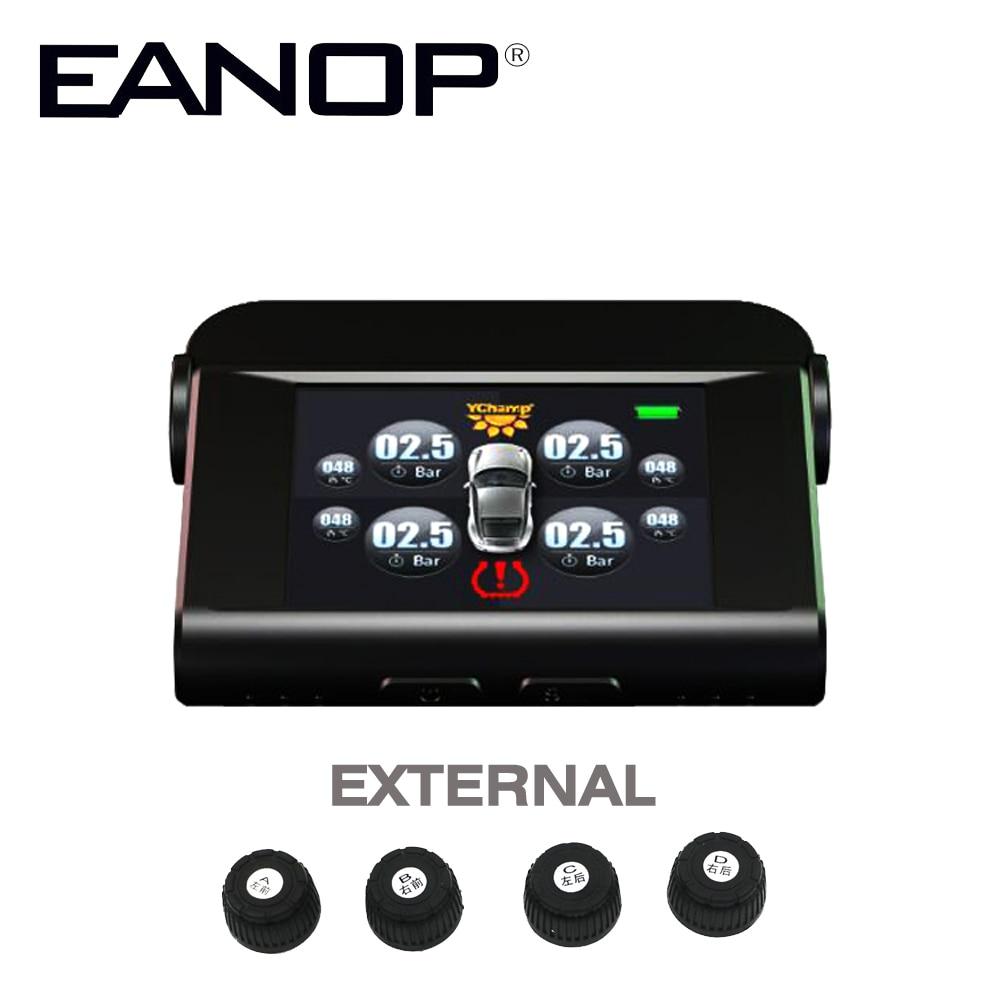 imágenes para EANOP Coche Electrónica Solar TPMS Con 4 Sensores PSI/BAR Monitor de Presión de Neumáticos Sistema de Monitoreo de Alarmas de Temperatura en tiempo Real