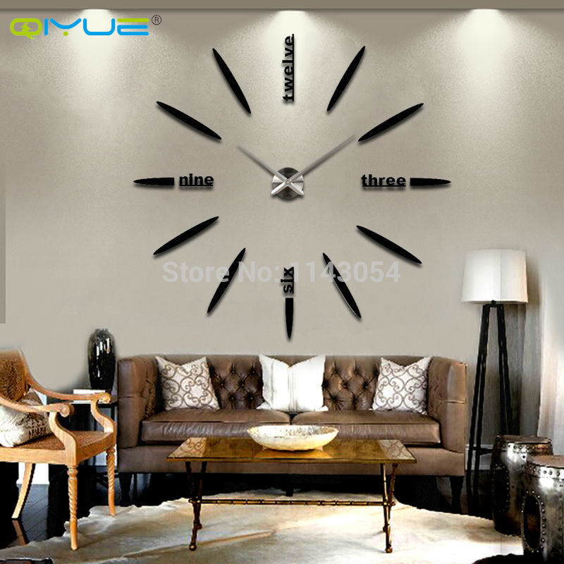 Online get cheap oversized wall clocks for Large living room wall decor