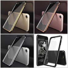 Case For Apple iPhone 5 6 6s 7 8 Plus Luxury Plating Gilded Soft TPU Silicone