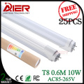 25pcs free shipping LED Tube T8 600mm 10W AC85V-265V LED Light SMD2835 for indoor led lighting
