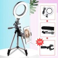 LED Studio Camera Ring Light Photography Photo Tripod USB Plug Make up lamp for Youtube video Selfie light Makeup Vlog Ring Ligh