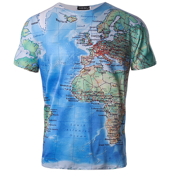 Brand 3D T Shirt Men/Women World Map T-shirt Funny T Shirts 2018 Summer Short Sleeve Anime Tops Tee Fashion Mens/Woment Clothing 1