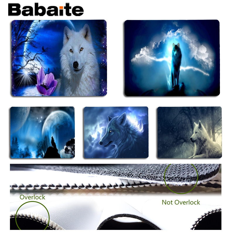 Babaite Wolf Large Mouse pad PC Computer mat Size for 25x29cm Gaming Mousepads