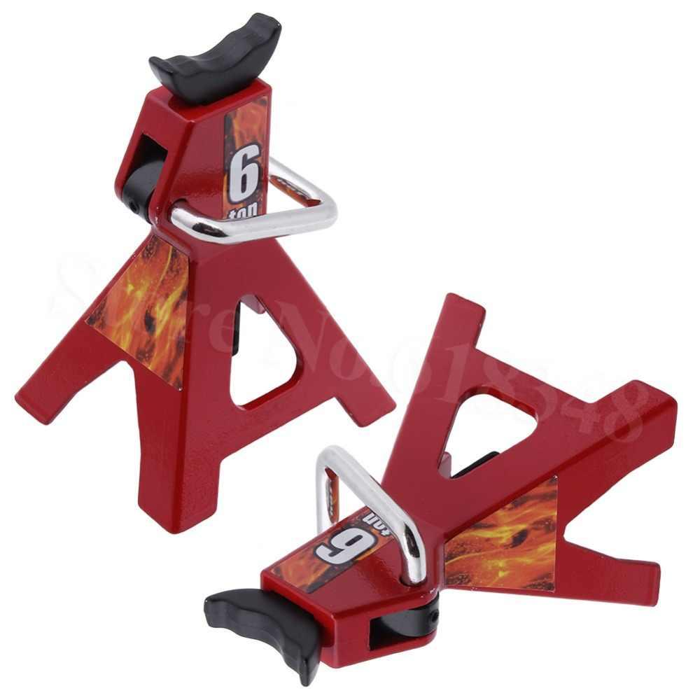 Nieuwe 2 pcs Metalen 6 Ton Schaal Jack Stands Hoogte Verstelbare Repareren Tool Voor 1/10 RC Crawler Truck Trx-4 Trx4 axiale SCX10