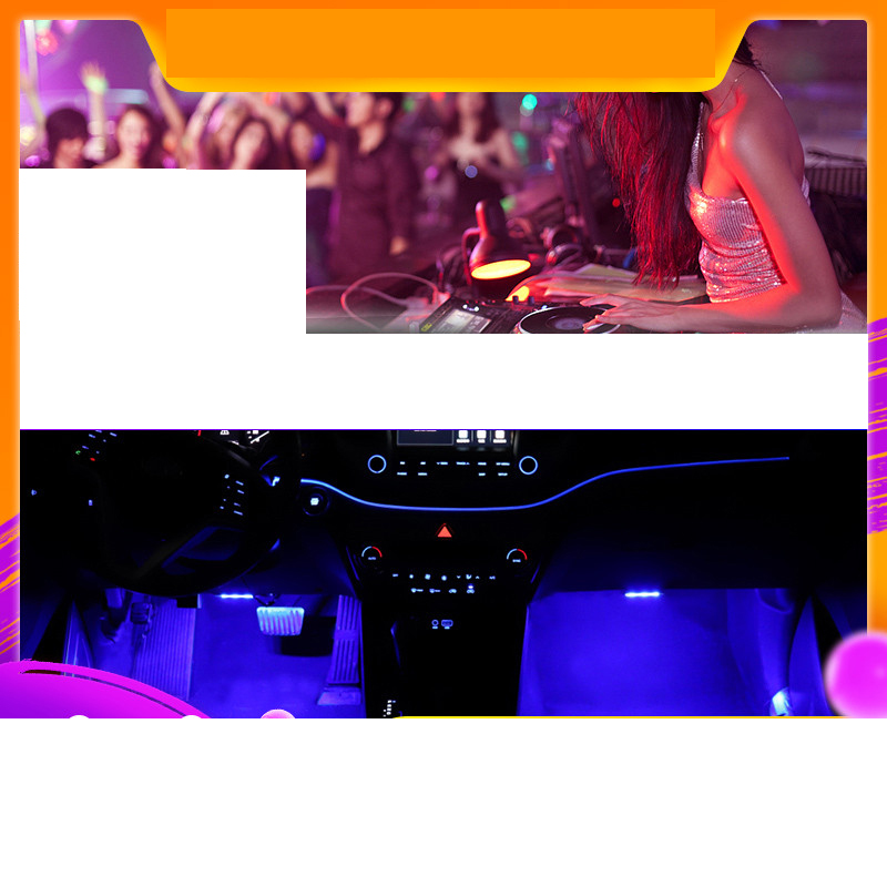 Lsrtw2017 LED Car Dashboard Atmosphere Light Sound Control for Hyundai Tucson 2015 2016 2017 2018 2019 2020