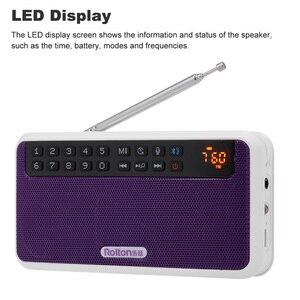 Image 5 - Rolton e500 fm rádio 6 w sem fio bluetooth alto falante portátil rádio digital fm estéreo de alta fidelidade tf music player com display led mic