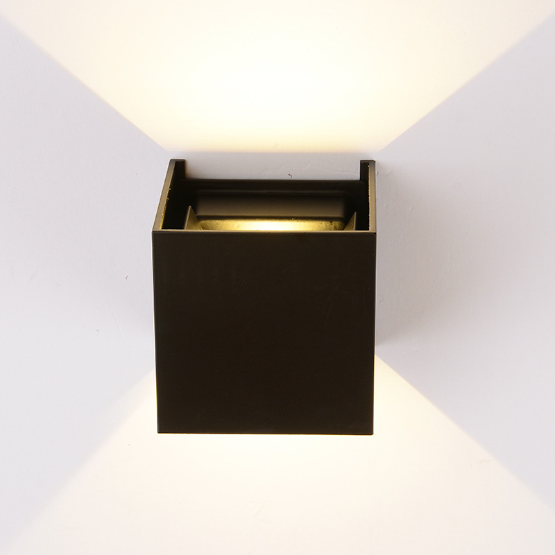 Waterproof Cube COB LED Wall Light Modern Home Decoration Wall Mounted Lighting Fixture outdoor wall lamp Aluminum 12W