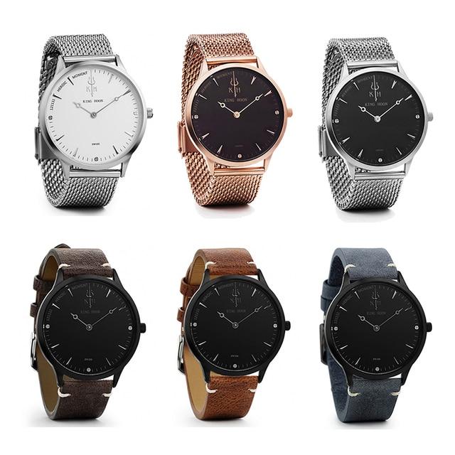 Casual Mens Watches Top Brand Luxury Quartz Watch Men Waterproof Sport Military Watches Men Leather Relogio Masculino KING HOON