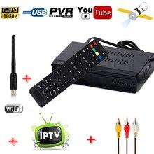 HD DVB-S2 цифровой спутниковый ресивер + IPTV Combo Set Top Box Поддержка M3U IPTV загрузить YouTube ИКС CCcam Newcam Мощность VU