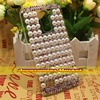 For LG K10 / M2 F670 Case Cover,1 Pcs Handmade Bling Pearl Colorful Claw Chain Case Cover For LG K10 / M2 F670
