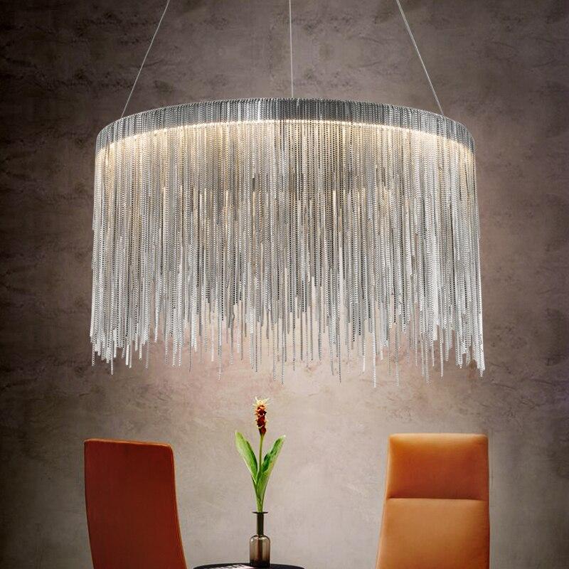 US $242.19 19% OFF|Italienisches design luxus postmodernen kette quaste  lampen und laternen led für hotel restaurant schlafzimmer wohnzimmer decor  ...