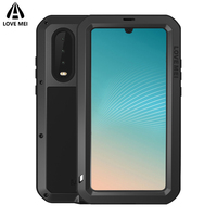 Love Mei Brand Case For Huawei P30 Lite P20 Pro Metal Shockproof Phone Cover For Huawei P30 Pro P20 Lite Armor Protection Case