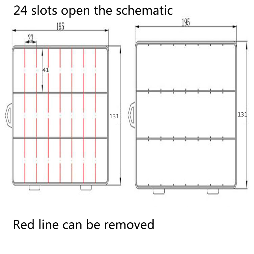 1PC Нови 24 слота клетки преносими - Органайзери и съхранение на инструменти - Снимка 6