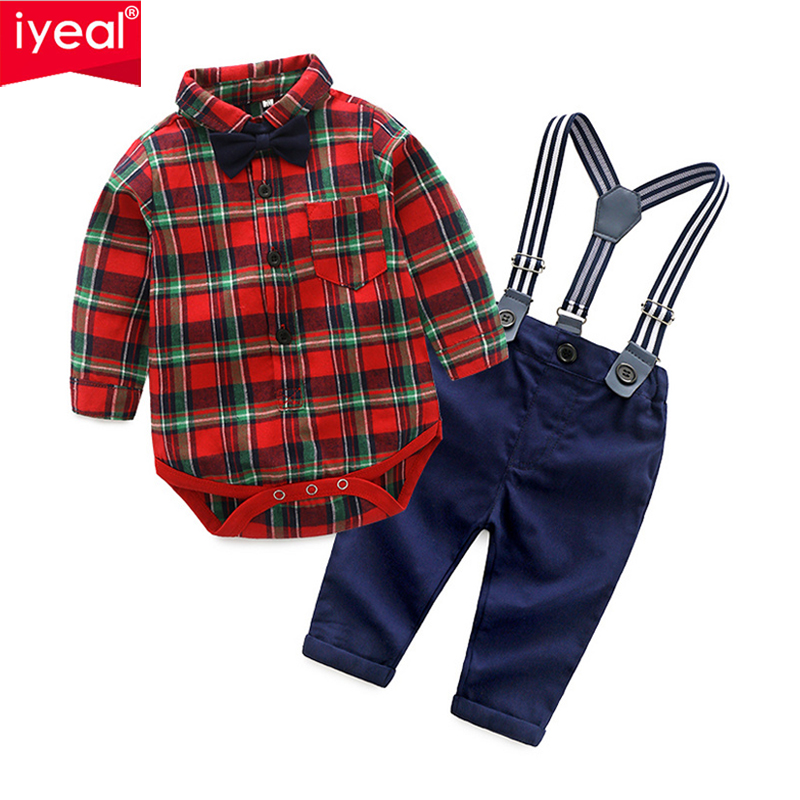 IYEAL Baby Toddler Kids Boys Clothes Shirts Tops + Pants Outfits Infant Newborn Bodysuit for Birthday Party Baby Boy Clothes