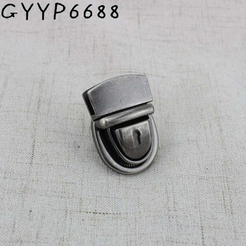 2sets Lock Clasp Turn Tuck Lock Twist Lock Metal Hardware For DIY Handbag Bag Purse Genuine Leather Trunk Lock