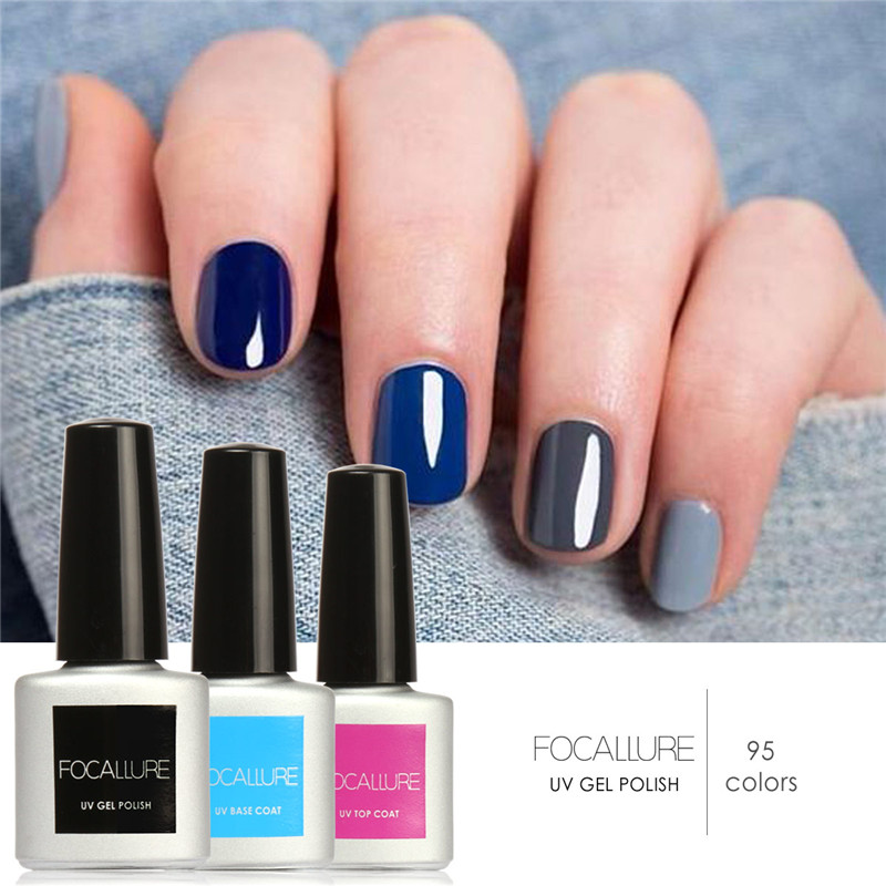 2017 hottest Nail Gel Polish Soak Off UV Colorful Nail Colors Art ...
