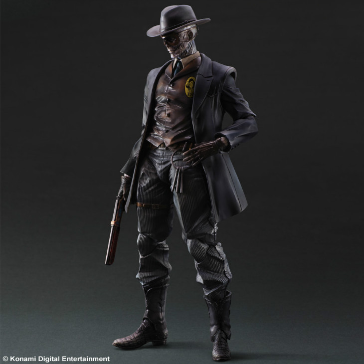 SQUARE ENIX PA Boss Metal Gear Solid 5 The Phantom Pain Skull face  26cm PVC Action Figure Model Toys Gifts Figurines new square enix action figure toys metal gear solid snake v the phantom pain kai man on fire toys gift