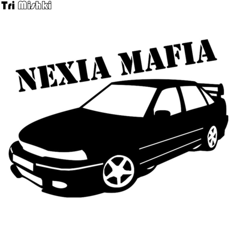 Tri Mishki HZX042# 14.4*20cm Car Sticker For Daewoo Nexia Mafia Auto Car Stickers
