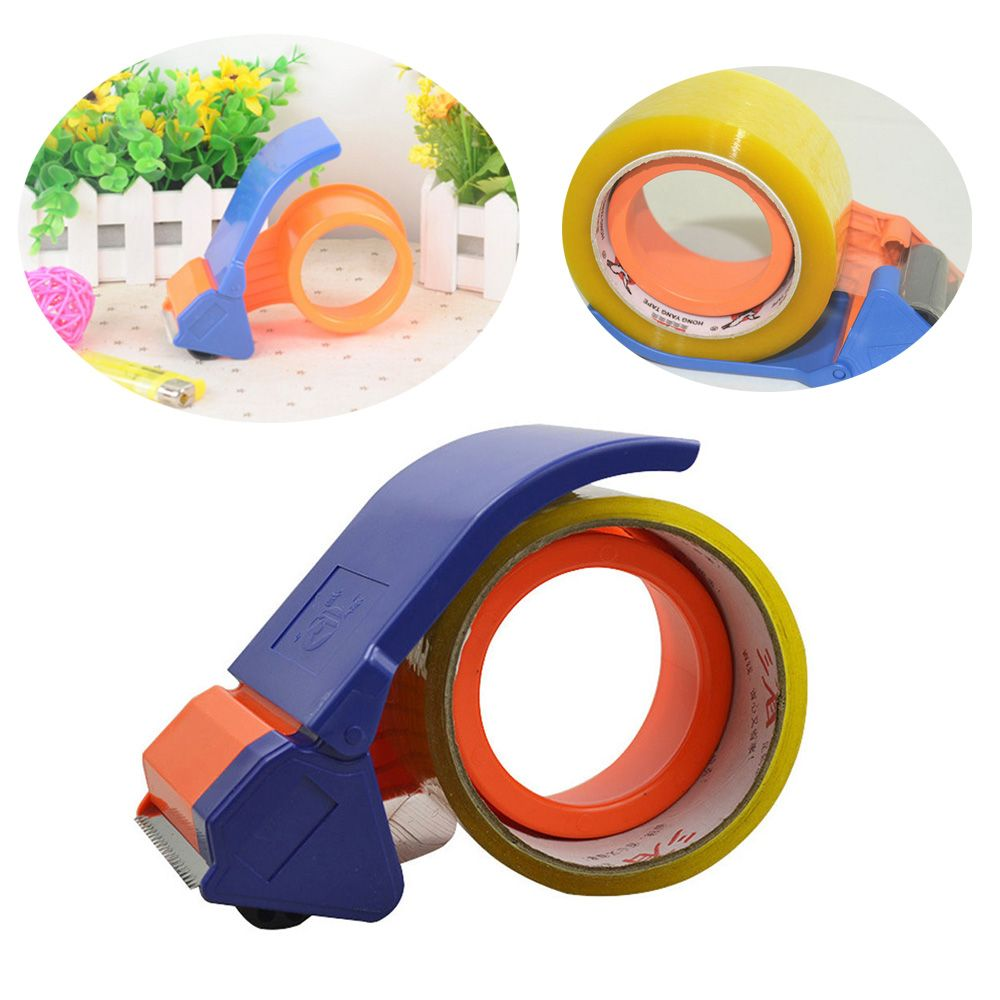 1pc 2 inch portable tape dispenser packing packaging sealing cutter tape cutter machine utility knife school