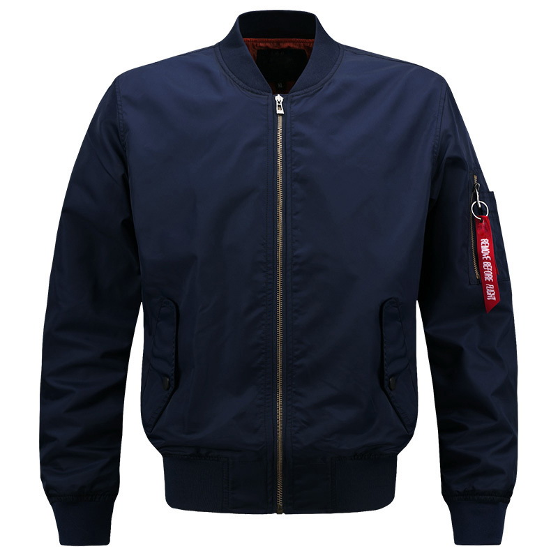Plus Size S-4XL 5XL 6XL 7XL 8XL US Air Force Bomber Solid Casual Jacket Men Varsity College Baseball Nylon 2018 Spring Autumn
