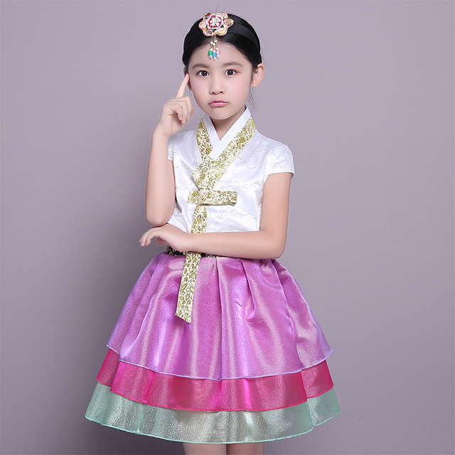 28b5f78c27cc New Design Short Sleeve Girl Korean Hanbok Dress Kid Asian Korea ...