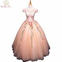 Walk Beside You Pink Quinceanera Dresses Embroidery Flower Beaded Vestido De Debutantes E 15 Anos Barato