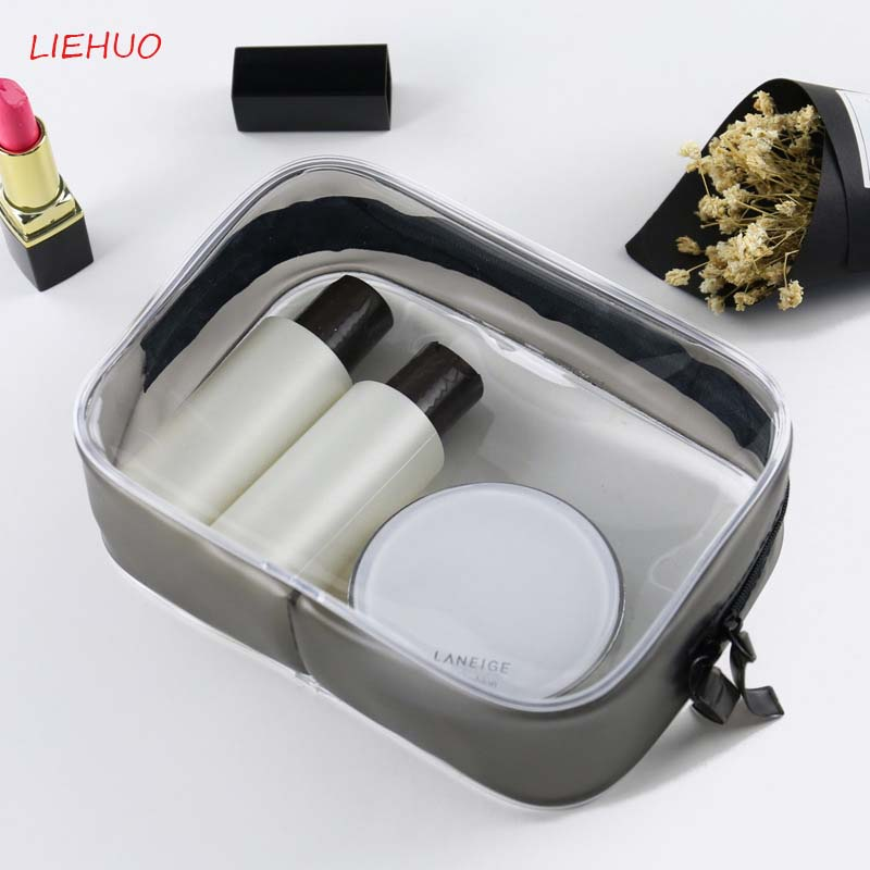 Transparent PVC Cosmetic bag Travel Neceser Make up bag Organizer Stereoscopic cosmetics waterproof Wash supplies Organizer 20 in Cosmetic Bags Cases from Luggage Bags